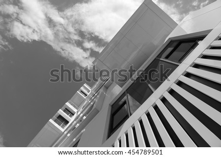 Modern  Urban Architecture, Berlin, Germany. Black and white,07/03/2016