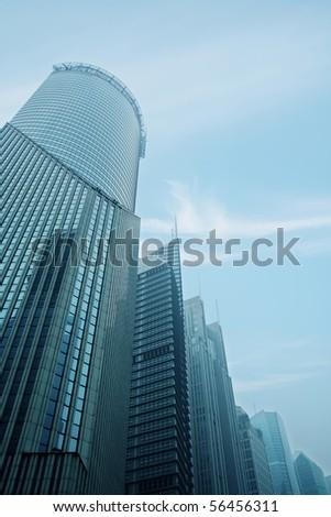 modern urban buildings of Shanghai financial center. - stock photo