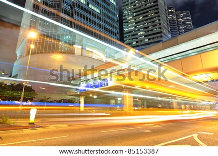 modern urban city at night - stock photo