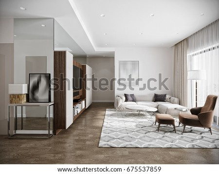 Boutique interior stock images royalty free images - Modern interior design living room white ...