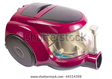 Modern vacuum cleaner isolated on white with clipping path - stock photo