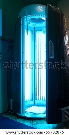 modern vertical solarium - stock photo
