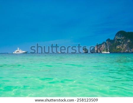 Modern Vessel Luxury Cruise  - stock photo