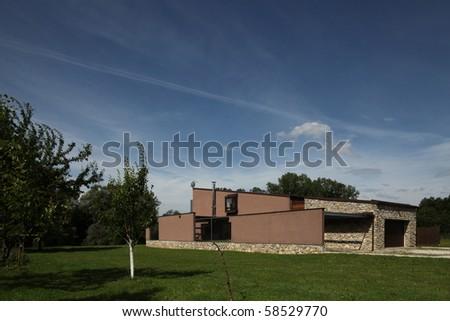 Modern Villa - stock photo
