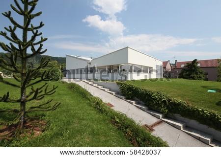 modern villa in zagreb - stock photo