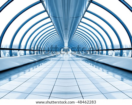 modern waiting hall in airport - stock photo