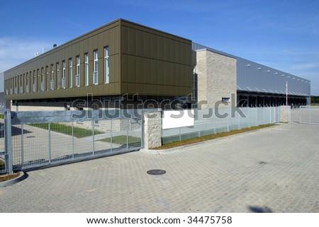 Modern Warehouse Loading Docks - stock photo