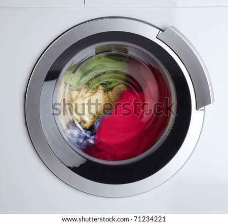 Modern Washing Machine - stock photo