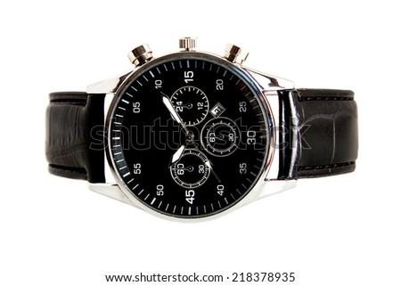 modern watch isolated on a white background - stock photo