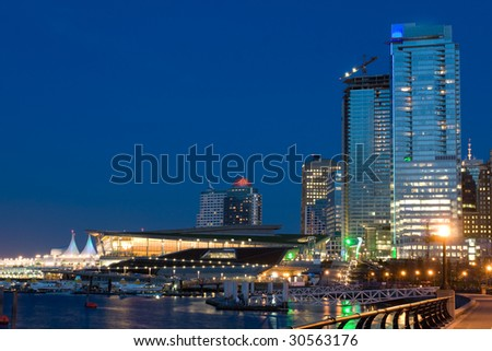 Modern Waterfront City - stock photo