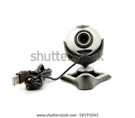 Modern webcamera isolated on a white background