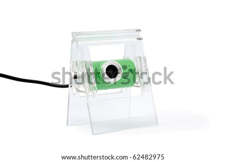 Modern webcamera isolated on a white background - stock photo