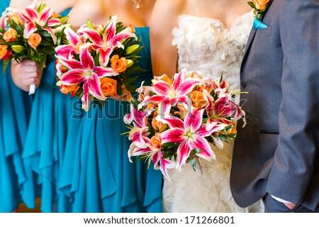 Modern western wedding ceremony. - stock photo