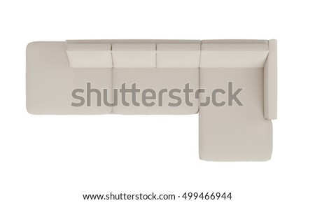 Modern White Fabric Sofa Furniture Isolated Stock Photo (Royalty Free)  499466944   Shutterstock