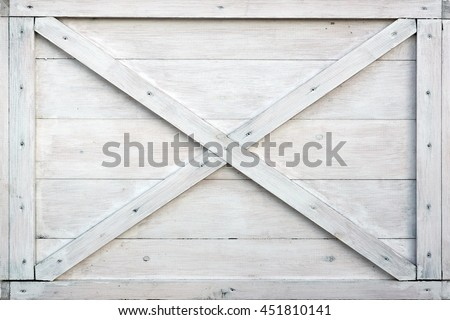 Modern White Wooden Box Front Side Background Or Texture, Close Up - stock photo