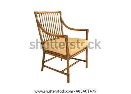 Modern wicker chair isolated on a white background