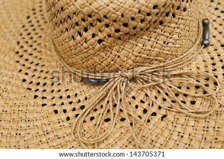 Modern wicker straw hat