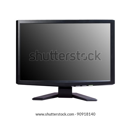 Modern widescreen tv lcd monitor