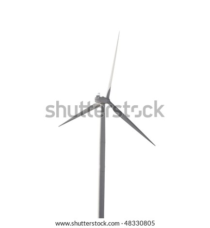 modern wind generator isolated