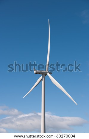 Modern wind turbine on a wind farm in Scotland, Europe. - stock photo