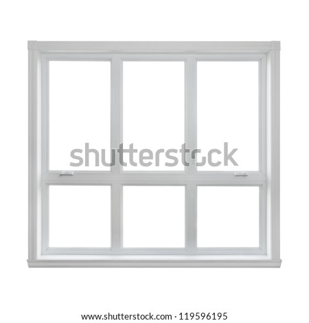 Modern window isolated on white background, with copy space. - stock photo