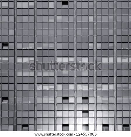 Modern windows black and white background - stock photo