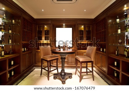modern wine shop - stock photo