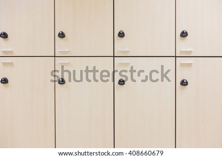 Modern wood Interior of a locker
