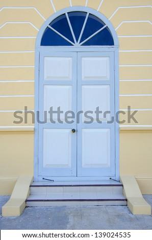Modern Wooden Door. - stock photo