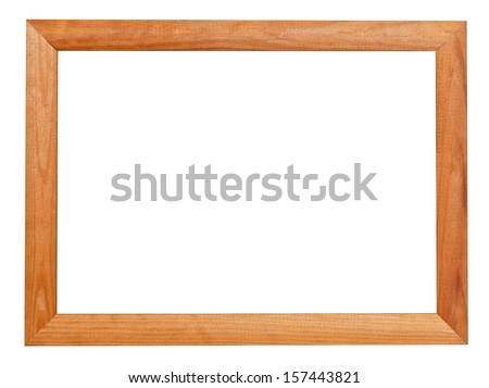 modern wooden picture frame isolated on white background - stock photo