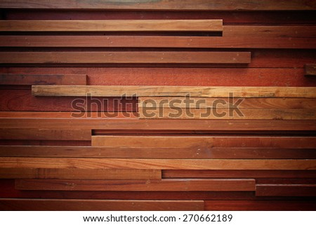 Modern wooden wall decoration for luxury property design, Textured background - stock photo