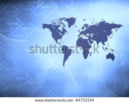 Modern world map wallpaper stock illustration 84732334 shutterstock modern world map wallpaper gumiabroncs Images