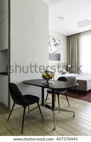 Modern yellow and gray living room interior - stock photo