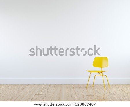 Modern Yellow Chair White Room Interior Stock Photo (Royalty Free)  520889407   Shutterstock