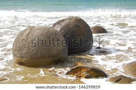 Moeraki Boulders - stock photo