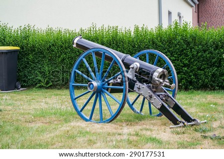 MOERS, GERMANY - JUNE 21, 2015: Gun at the marksmen's festival