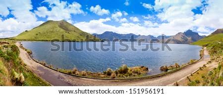 Mojanda Lake, Ecuador - stock photo