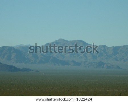 Mojave Desert Scenery - stock photo