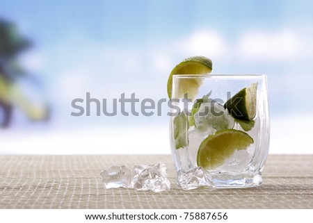 Mojito cocktail drink - stock photo
