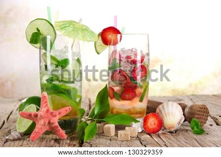 Mojito cocktails - stock photo