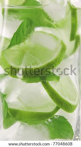 Mojito drink detail - stock photo