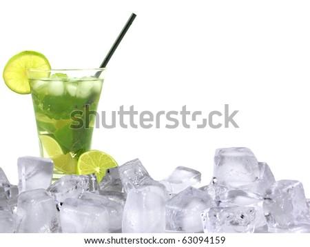 Mojito ice drink - stock photo