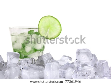 Mojito ice drink - stock photo