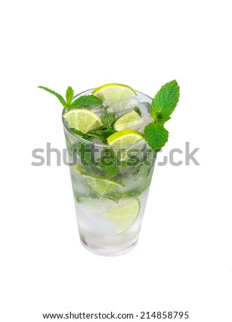 Mojito isolated on a white background