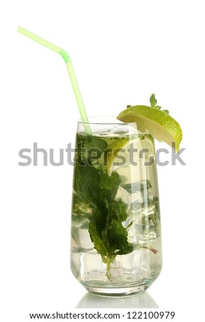 Mojito isolated on white