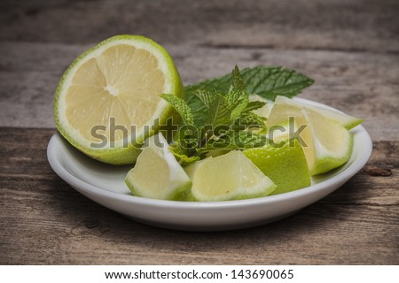 Mojito lime drink cocktail - stock photo