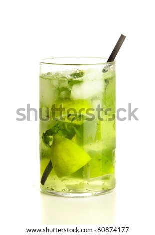 mojito on white background