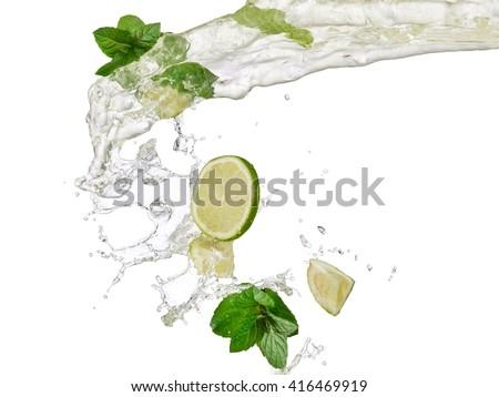 Mojito splash - stock photo