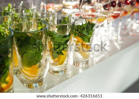 Mojito with Orange and Lemon - stock photo