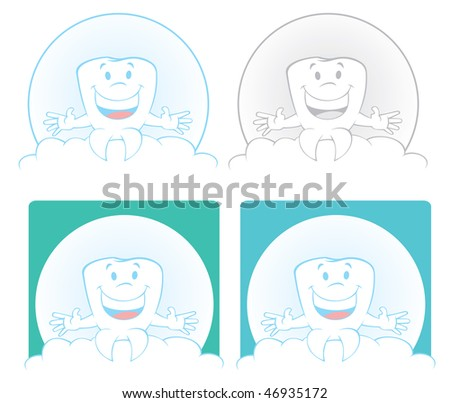 Molar tooth sitting on a cloud - stock photo